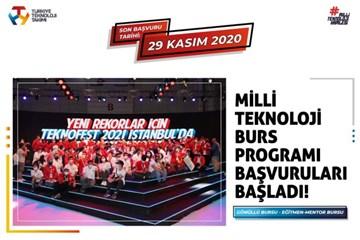 Milli Teknoloji Burs Programı 2021 Başvurularını Kaçırmayın!