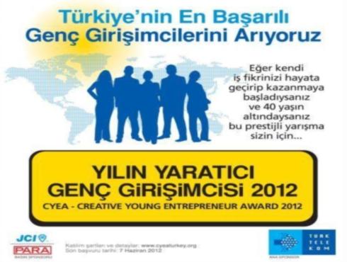 CYEA 2012 Yaratıcı Genç Girişimci Yarışmasını Es Geçmeyin!