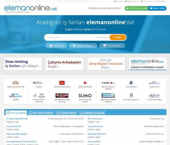 Yenilenen Elemanonline.net İle İş ve Eleman Bulmak Daha Kolay!