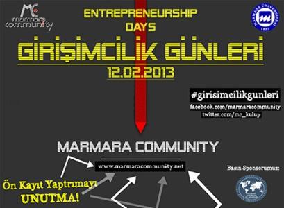 Marmara Üniversitesi Girişimcilik Günleri 12 Şubat'ta!