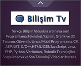 Teknoloji, Yazılım, Bilişim ve Programlama Videoları BilişimTV'de Bir Arada!