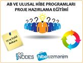 AB ve Ulusal Hibe Programları Proje Hazırlama Eğitimini Kaçırmayın!