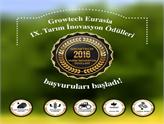 Growtech Eurasia 2016 Tarım İnovasyon Ödülleri'ne Başvurular Başladı