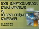Doğu-Güneydoğu Anadolu Enerji Kaynakları ve Bölgesel Gelişmeler Konferansı Ankara'da!