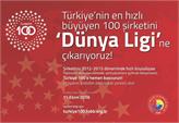 Türkiye'nin En Hızlı Büyüyen 100 Şirketi 2016 Başvuruları Devam Ediyor!